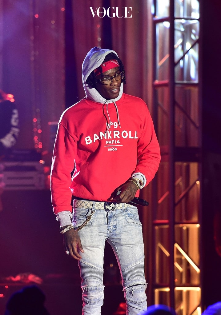 ATLANTA, GA - FEBRUARY 22:  Rapper Young Thug performs onstage at TIDAL X: TIP at Greenbriar Mall on February 22, 2016 in Atlanta, Georgia.  (Photo by Paras Griffin/Getty Images for Tidal)