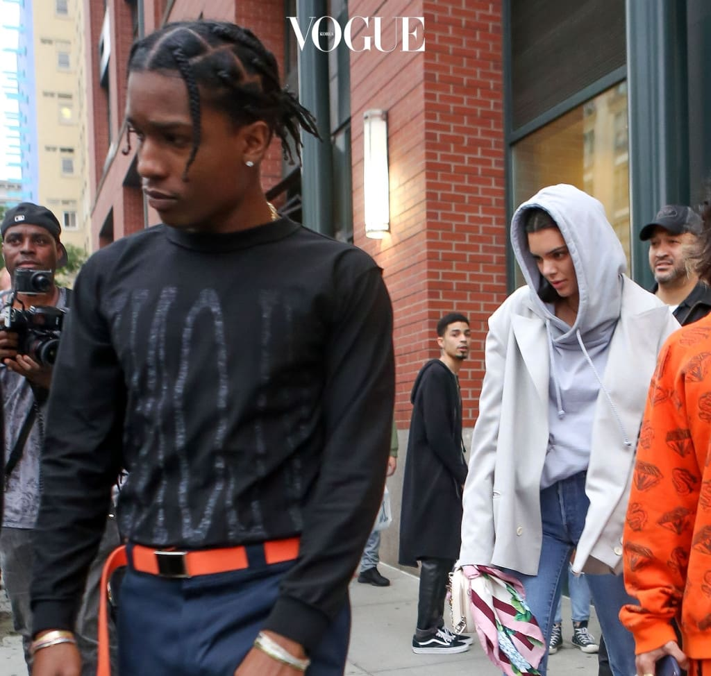 A$AP Rocky and Kendall Jenner are seen leaving an apartment in New York Cit, NY.  Pictured: A$AP Rocky and Kendall Jenner Ref: SPL1513416  050617   Picture by: Jackson Lee / Splash News Splash News and Pictures Los Angeles:310-821-2666 New York:212-619-2666 London:870-934-2666 photodesk@splashnews.com