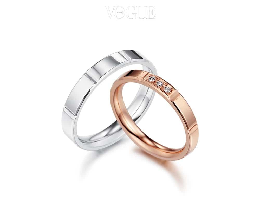 골든듀 '커플릿' 18K 골드 소재의 얇은  K18, Pink Gold, 다이아몬드