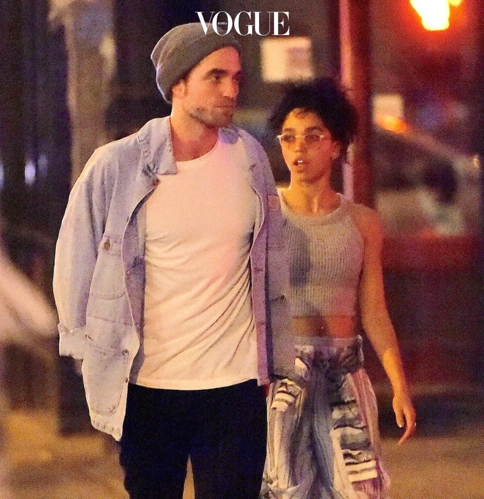 EXCLUSIVE: Robert Pattinson and his rumored fiancee FKA Twigs, were spotted out enjoying dinner and a stroll in Little Italy. They both dressed casually for the outing, as they headed to 'Lovely Day' for their quiet meal. The pair were joined by a friend after the outing, where they headed to a local convenience store. Pattinson bought a box of allergy medication which he didn't wait to open. They later headed back to their hotel. Pictured: Robert Pattinson and FKA Twigs Ref: SPL1024150  120515   EXCLUSIVE Picture by: 247PAPS.TV / Splash News Splash News and Pictures Los Angeles:310-821-2666 New York:212-619-2666 London:870-934-2666 photodesk@splashnews.com