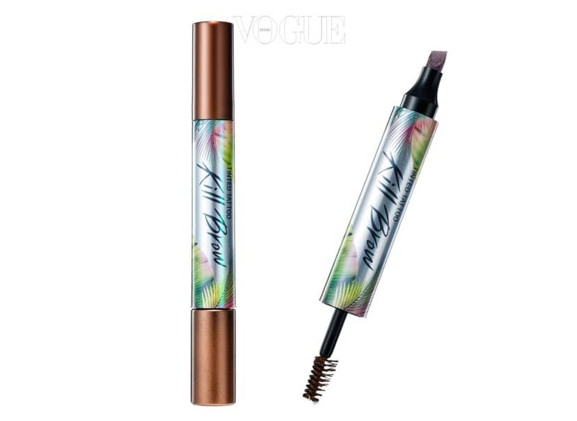 아이브로우용 타투 펜과 브로우 마스카라가 하나로! 피부에 착색되는 것이 아니라 일주일 정도 약하게 피부를 태닝 시키는 원리로 피부에 보다 안전하고 무척 자연스럽답니다. 타투 펜 2.8g+브로우 마스카라 4.5g, 2만원.