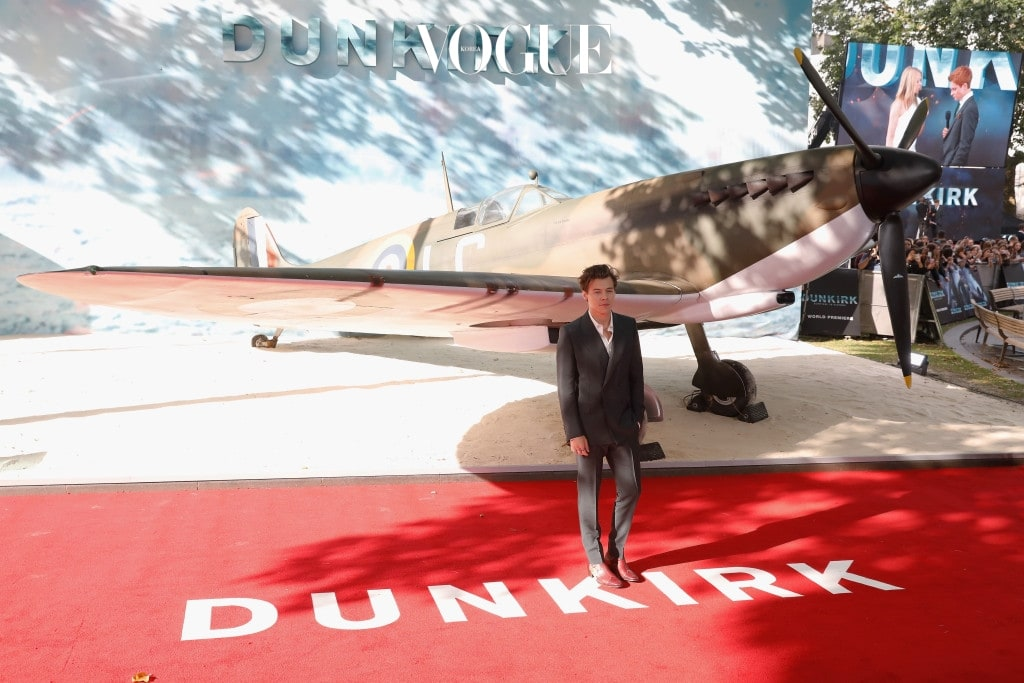 LONDON, ENGLAND - JULY 13:  Harry Styles arrives at the 'Dunkirk' World Premiere at Odeon Leicester Square on July 13, 2017 in London, England.  (Photo by Tristan Fewings/Getty Images)