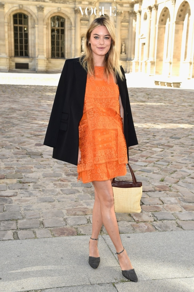 PARIS, FRANCE - SEPTEMBER 26:  Camille Rowe attends the Christian Dior show as part of the Paris Fashion Week Womenswear Spring/Summer 2015 on September 26, 2014 in Paris, France.  (Photo by Pascal Le Segretain/Getty Images)