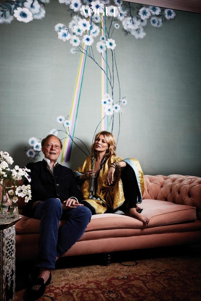 모델 케이트 모스와 드 고네의 창립자 클로드 세실 귀르네.