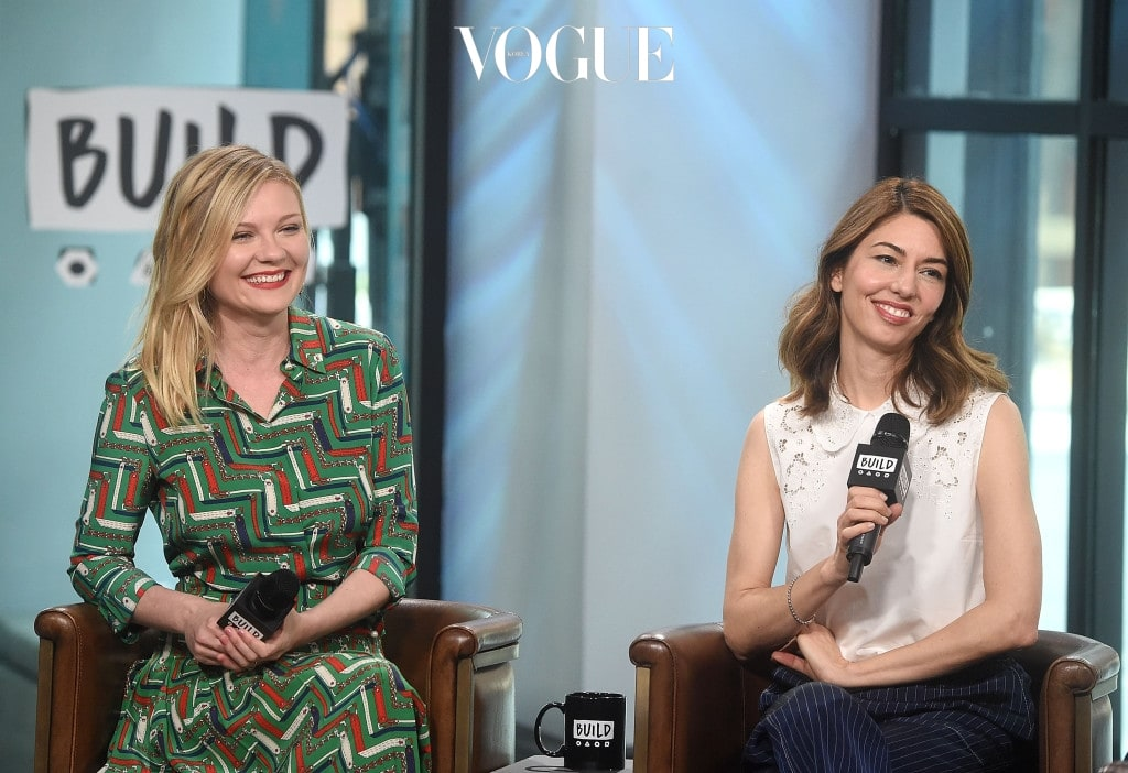 """NEW YORK, NY - JUNE 21:  Kirsten Dunst and Sofia Coppola visit build Studios to discuss their new movie """"The Beguiled"""" at Build Studio on June 21, 2017 in New York City.  (Photo by Jamie McCarthy/Getty Images)"""