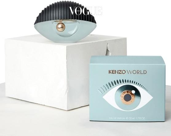 겐조의 상징적 아이콘 눈을 디자인 요소로 활용한 '겐조 월드 오 드 퍼퓸'. 30ml, 50ml, 75ml 총 세 가지 용량으로 만날 수 있다.