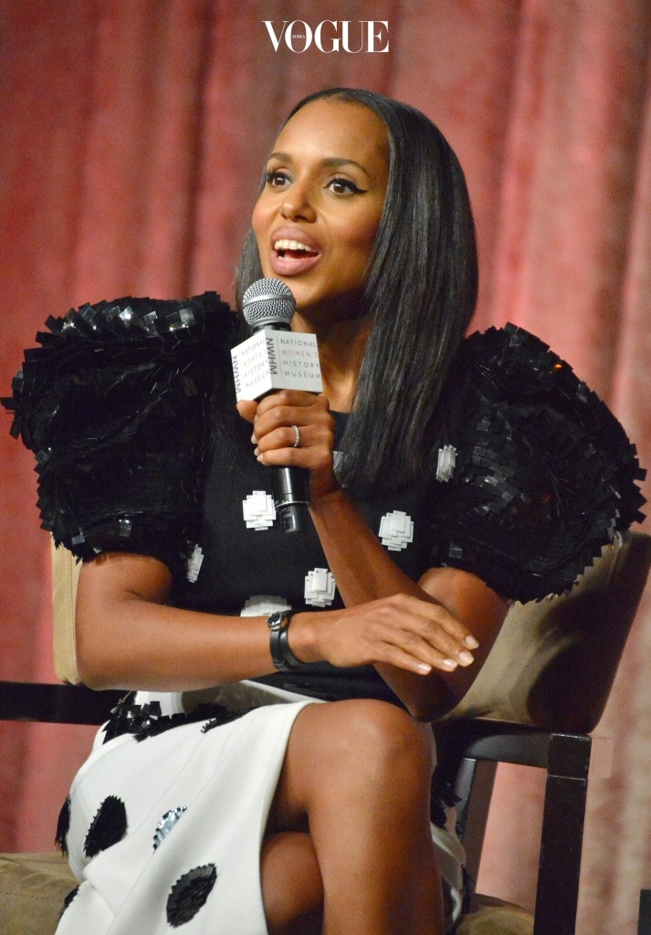 BEVERLY HILLS, CA - SEPTEMBER 16:  Kerry Washington speaks onstage at the Women Making History Awards at The Beverly Hilton Hotel on September 16, 2017 in Beverly Hills, California.  (Photo by Charley Gallay/Getty Images for National Women's History Museums)