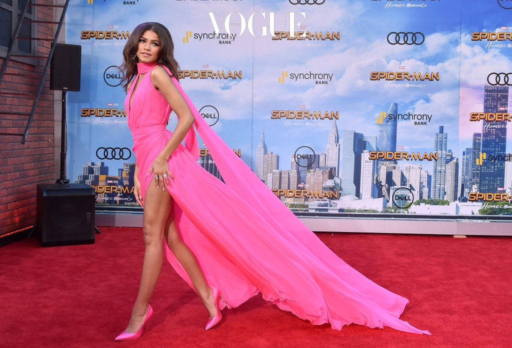"""Premiere of """"Spider-Man: Homecoming"""". Pictured: Zendaya Ref: SPL1529863  280617   Picture by: AXELLE WOUSSEN/Bauergriffin.com"""