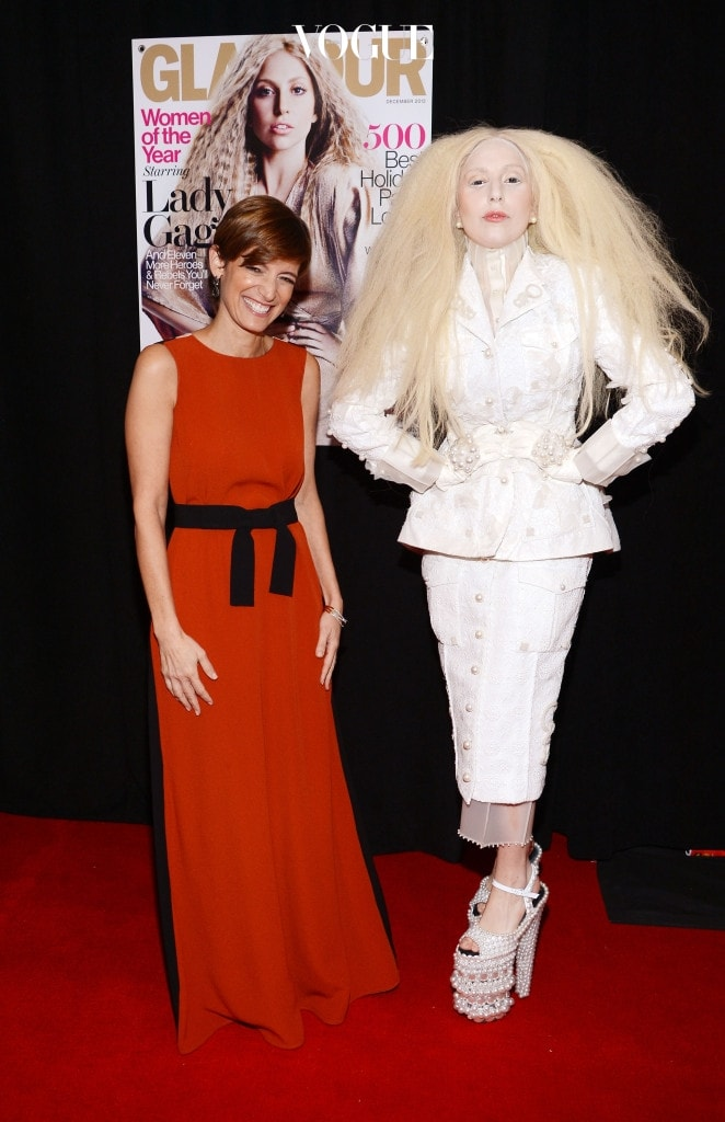 NEW YORK, NY - NOVEMBER 11:  Glamour Editor-in-Chief Cindi Leive (L) and Lady Gaga attend Glamour's 23rd annual Women of the Year awards on November 11, 2013 in New York City.  (Photo by Larry Busacca/Getty Images for Glamour)