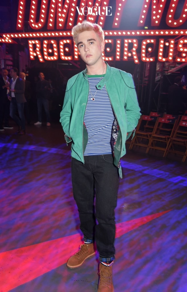LONDON, ENGLAND - SEPTEMBER 19:  Gabriel-Kane Day-Lewis attends the Tommy Hilfiger TOMMYNOW Fall 2017 Show during London Fashion Week September 2017 at The Roundhouse on September 19, 2017 in London, England.  (Photo by David M. Benett/Dave Benett/Getty Images for Tommy Hilfiger )