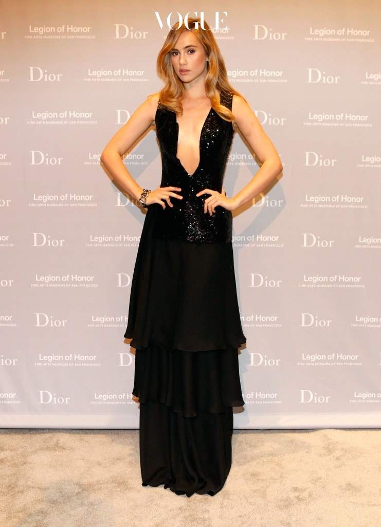 SAN FRANCISCO, CA - MARCH 27:  Actress and model Suki Waterhouse attends the 2015 Mid-Winter Gala presented by Dior at Legion Of Honor on March 27, 2015 in San Francisco, California.  (Photo by Kimberly White/Getty Images for Dior)
