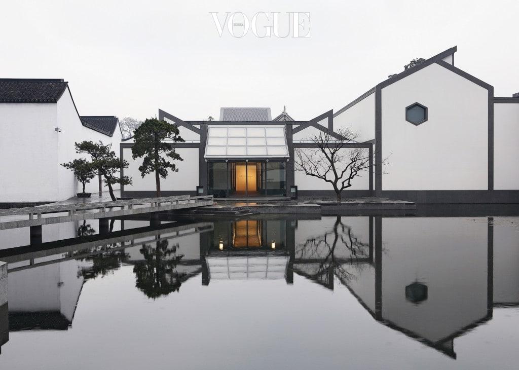 페이가 지역 건물로부터 영감을 얻어 2006년 완공한 중국의 쑤저우 박물관(Suzhou Museum).