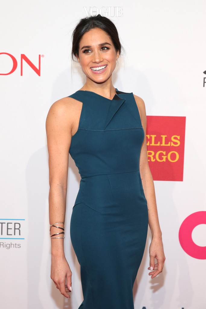 NEW YORK, NY - OCTOBER 28:  Model Meghan Markle attends the Elton John AIDS Foundation's 13th Annual An Enduring Vision Benefit at Cipriani Wall Street powered by CIROC Vodka on October 28, 2014 in New York City.  (Photo by Neilson Barnard/Getty Images for CIROC Vodka)
