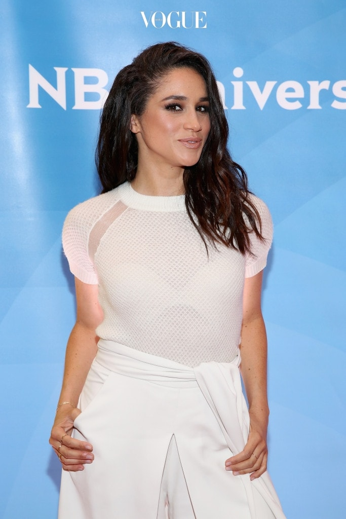 NEW YORK, NY - JUNE 24:  Meghan Markle attends the NBC's 2015 New York Summer Press Day at Four Seasons Hotel New York on June 24, 2015 in New York City.  (Photo by Robin Marchant/Getty Images)