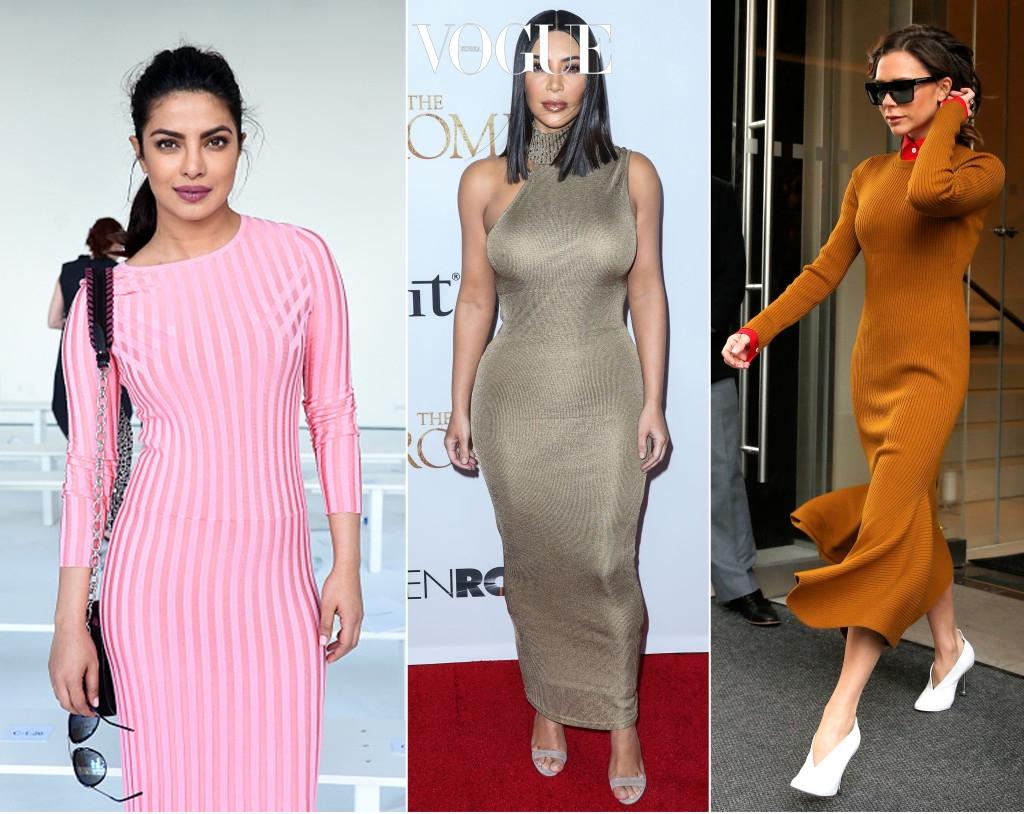 제대로 소화하면 여신 느낌을 줄 수 있는 롱 니트 드레스. 적당히 타이트한 핏의 제품을 선택하면 볼륨감을 살릴 수 있어요. 물론,  킴 카다시안 만큼은 어렵습니다.
