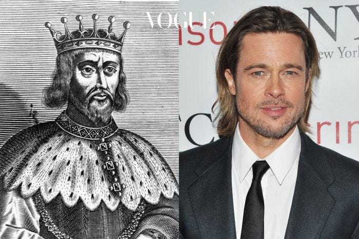 그는 1154년부터 1189년까지 영국을 통치했던 국왕 헨리 2세의 직계 자손 중 한명입니다. 어때요, 좀 닮았나요?