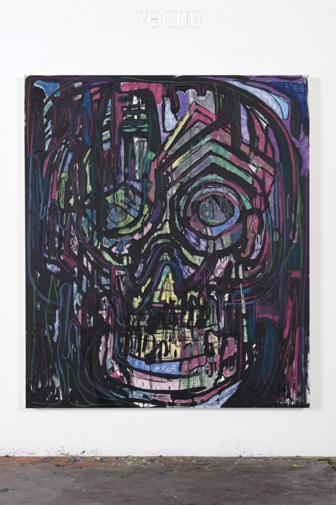 Untitled (drawing painting - stained glass), 2016, Pastel, crayon, colored pencil, oil and acrylic on canvas, 213.4×182.9×5.1cm Photo by Fredrik Nilsen