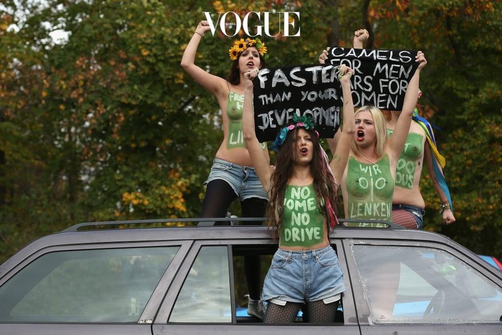 Femen Protests Saudi Prohibition On Women Drivers