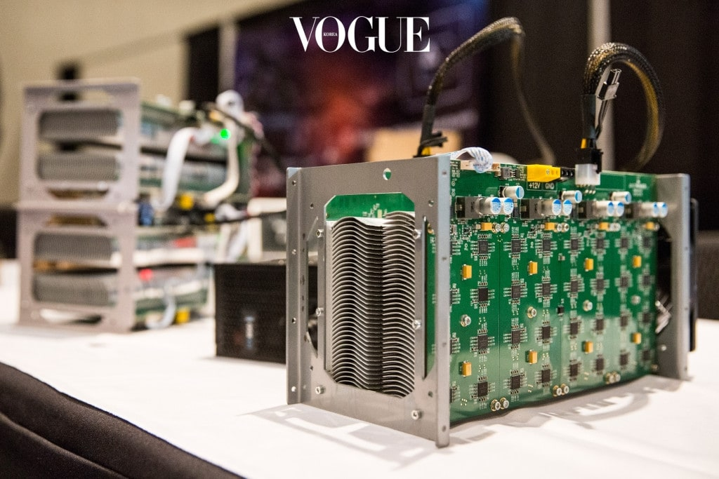 NEW YORK, NY - APRIL 07:  Bitcoin mining hardware is displayed at a Bitcoin conference on at the Javits Center April 7, 2014 in New York City. Topics included market places to trade bitcoin, mining hardware to harvest bitcoins and digital wallets to store bitcoins. Bitcoin is one of the most popular of over one hundred digital currencies that have recently come into popularity.  (Photo by Andrew Burton/Getty Images)