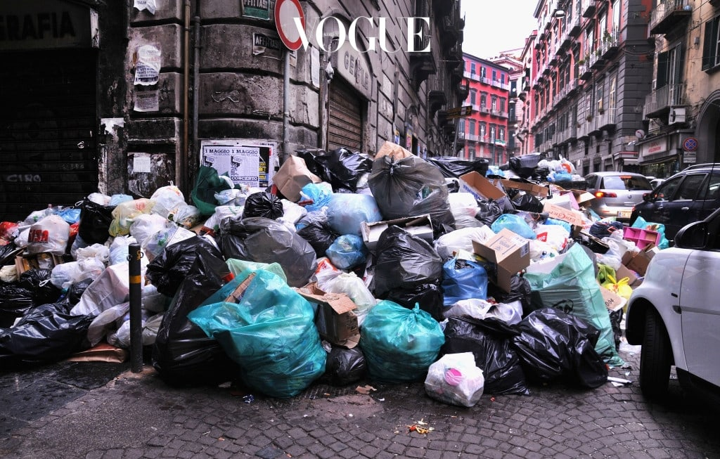 NAPLES, ITALY - MAY 02: A view of a pile of uncollected rubbish near Via Sant'Anna on May 2, 2011 in Naples, Italy.Italy's third largest city is once again experiencing a serious waste crisis with waste remaining uncollected in the streets of its historical centre. The causes lie with Government and political inefficiency, corruption and Camorra, a lack of modern incinerators, intransigence and acquiescence of the local population and low levels of recycling. Today there are over two thousand tons of waste in Naples, famous for being one of the most beautiful cities in Italy. (Photo by Laura Lezza/Getty Images)