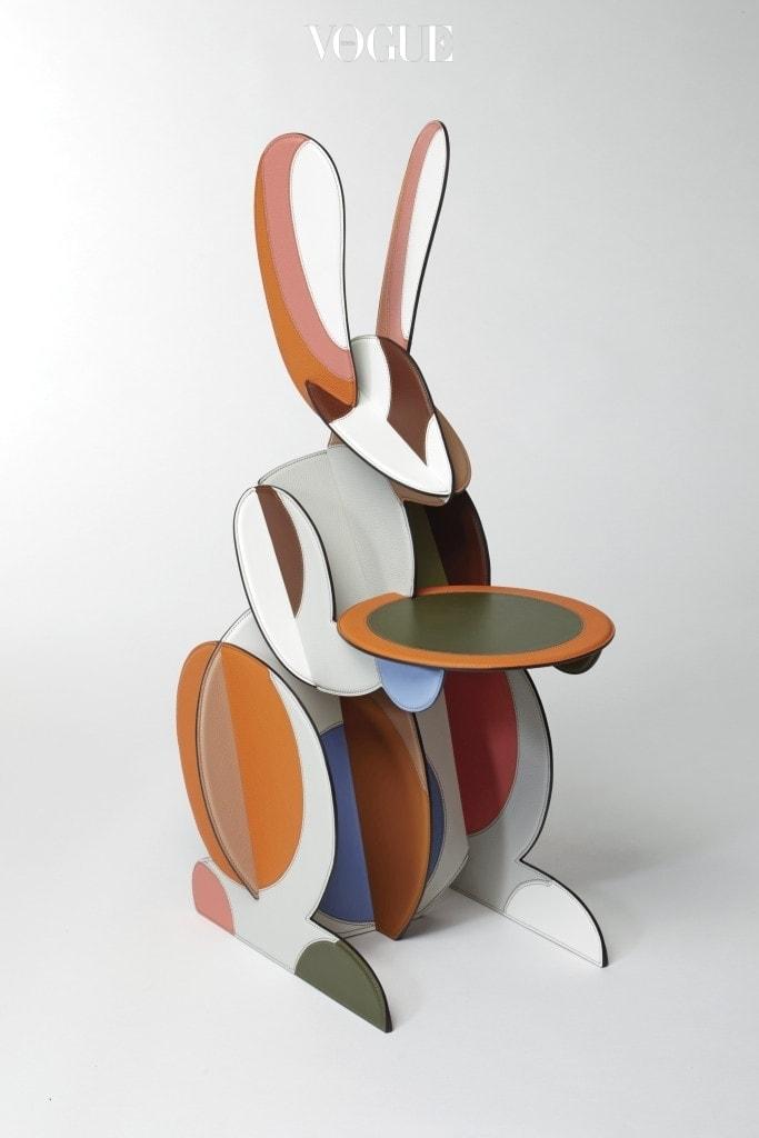 [에르메스 12월호] 쁘띠 아쉬 한국 전시_제품 이미지_Table rabbit in leather