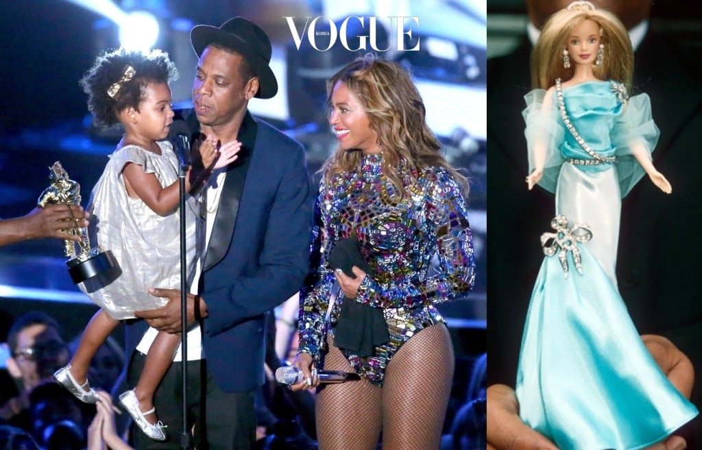 INGLEWOOD, CA - AUGUST 24:  Blue Ivy Carter, Jay Z and Beyonce onstage during the 2014 MTV Video Music Awards at The Forum on August 24, 2014 in Inglewood, California.  (Photo by Mark Davis/Getty Images)
