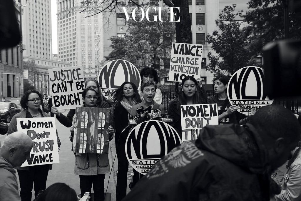 NOW Protests Manhattan DA's Decision Not To Prosecute Harvey Weinstein