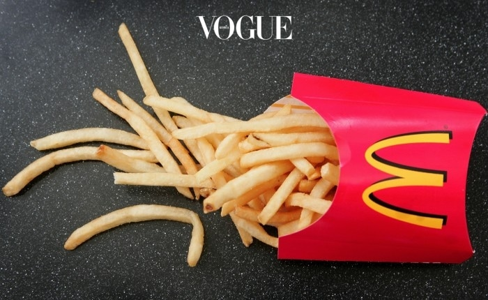 특히 얇고 긴 몸매를 자랑하는 맥도날드의 감자튀김